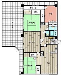 シャトーMoRi3[3階]の間取り