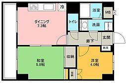 ルフェール博多駅南[6階]の間取り