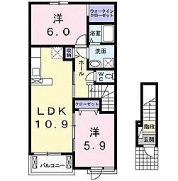 エクセレント[2階]の間取り