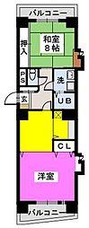 鳴海屋参番館[7階]の間取り