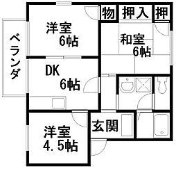 フレグランス藤井A棟[201号室]の間取り