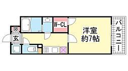 兵庫県神戸市兵庫区駅前通4丁目の賃貸マンションの間取り