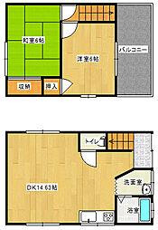[一戸建] 愛媛県新居浜市北内町4丁目 の賃貸【/】の間取り