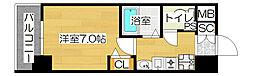 大阪府大阪市北区同心1の賃貸マンションの間取り
