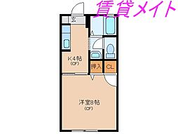 三重県伊勢市八日市場町の賃貸アパートの間取り