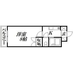 エスポワール二俣[3階]の間取り