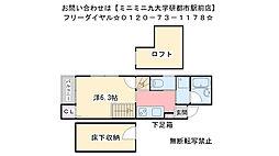 コンフォートベネフィス箱崎11[102号室]の間取り
