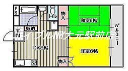 西川コーポ[2階]の間取り
