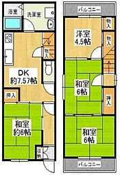 [一戸建] 大阪府大阪市西区九条南2丁目 の賃貸【大阪府 / 大阪市西区】の間取り