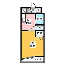 エクシードみずほ[4階]の間取り