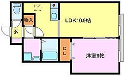 シンプルライフB棟[1階]の間取り