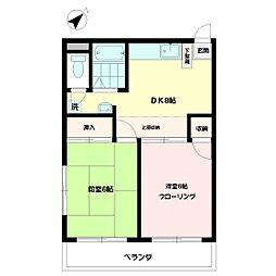 永井マンション[1階]の間取り