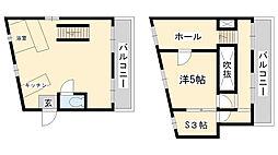 オーズハイツ新神戸[302号室]の間取り