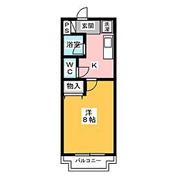 コーポアザミ[3階]の間取り