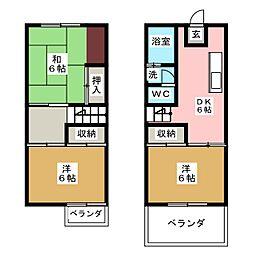 [テラスハウス] 静岡県静岡市駿河区丸子5丁目 の賃貸【/】の間取り