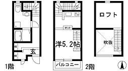 [テラスハウス] 兵庫県川西市中央町 の賃貸【/】の間取り