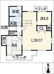 永塚ハイツ[1階]の間取り