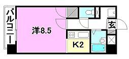 レーベンイケダ美沢[606 号室号室]の間取り