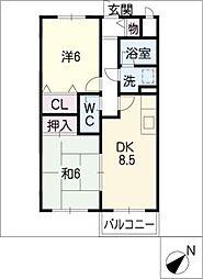 Maple S B棟[2階]の間取り