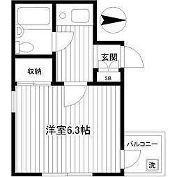 ソワレ・ド・ミノベ鶴見中央ビル[705号室]の間取り