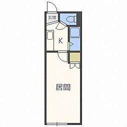 ラ・シャトーレイン[5階]の間取り