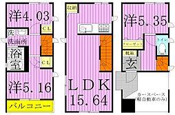 [タウンハウス] 東京都足立区千住柳町 の賃貸【/】の間取り