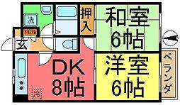 セントラルハイツYOSHIDA[305号室]の間取り