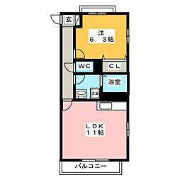 カームスガーデン・ジオ[4階]の間取り