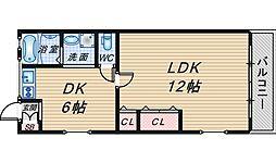 エデン千鶴[2階]の間取り
