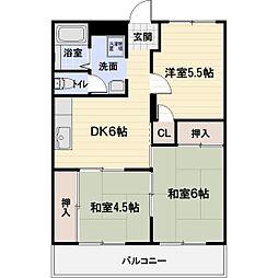 エスポR戸賀[2階]の間取り