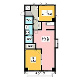 シャトレ糸貫[3階]の間取り