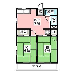 シティハイムサンふじ[1階]の間取り