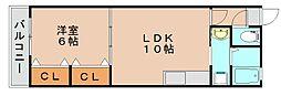 ベネッセ舞松原[2階]の間取り