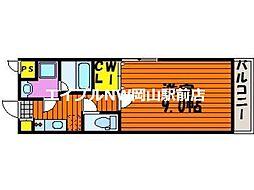 LST Okadai South 3階1Kの間取り