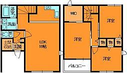 [テラスハウス] 奈良県香芝市北今市7丁目 の賃貸【/】の間取り