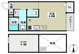 Escada SOGA(エスカーダソガ)[201号室]の間取り