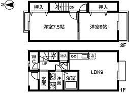 [テラスハウス] 愛知県あま市甚目寺 の賃貸【/】の間取り