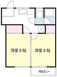 コーポ中村[6号室]の間取り