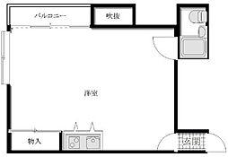 サンパティオ田柄[2階]の間取り