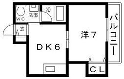 長居大発マンション[3階]の間取り