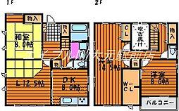 [一戸建] 岡山県岡山市北区津高台1丁目 の賃貸【/】の間取り