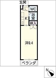 HUMMOCK新栄[3階]の間取り