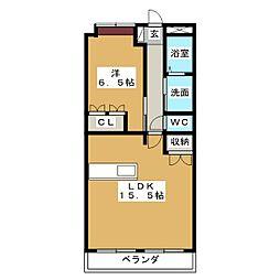 サンライズ清水Ⅱ[2階]の間取り