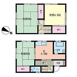 [一戸建] 神奈川県横浜市都筑区すみれが丘 の賃貸【/】の間取り