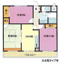 埼玉県さいたま市浦和区領家3丁目の賃貸マンションの間取り