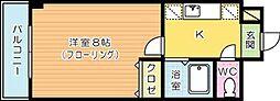 ニューライフ園田[301号室]の間取り