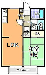 桜コーポ A棟[203号室]の間取り
