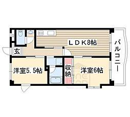 リブレM社台[4階]の間取り