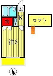 マッシュ1番館[2階]の間取り