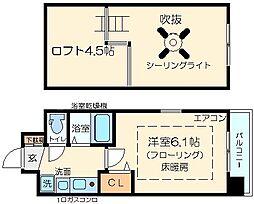 大阪府大阪市淀川区西中島6の賃貸マンションの間取り
